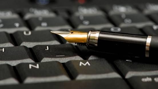 penna stilografica e tastiera
